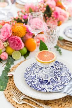 Create a stunning fruit and floral centerpiece runner with these step-by-step instructions and tutorial video for this easy entertaining DIY! Party Decoration, Table Decorations, Reception Decorations, Event Decor, Easy Entertaining, Deco Table, Floral Centerpieces, Wedding Centerpieces, Floral Arrangements