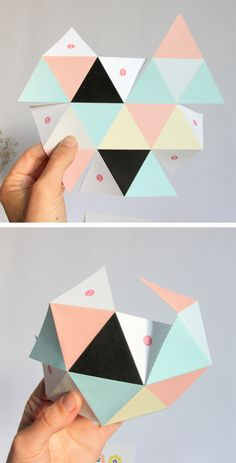 paper #diy free printable DIY - GEOBALL !