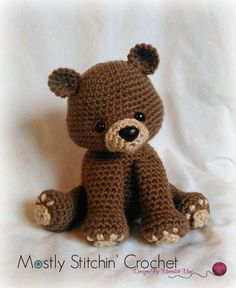 Bear Crochet Pattern PDF Black Bear Brown Bear von MostlyStitchin