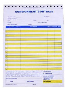 How To Create Or Understand A Consignment Agreement  Minnesota