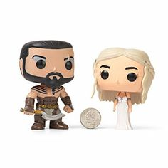 Game of Thrones Vinyl Figures Khal Drogo and Dany Wedding Set. (Tiny horse heart not included.)