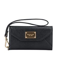 MICHAEL Michael Kors  iPhone® 5 Saffiano Clutch... with camera cut out, so you don't need to take phone out to take pictures!