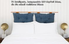 DIY Pillow Headboard 79 Smart Cheap Homemade DIY Headboard Ideas to Realize Swiftly Bohemian Headboard, Pillow Headboard, Modern Headboard, Leather Headboard, Leather Pillow, Headboard Ideas, Headboard Alternative, Lounge, Diy Pillows