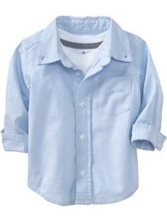 Oxford Uniform Shirts for Baby - Baby will be one handsome little fella in this classically crisp Oxford shirt. Pair with khakis or cords for a darlingly dressed-up style.