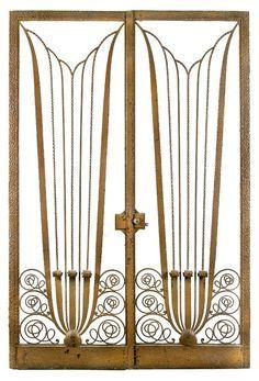 grille en fer forg art d co raymond subes m tal pinterest art d co d co et art. Black Bedroom Furniture Sets. Home Design Ideas