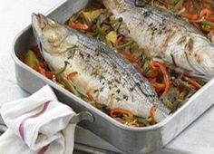 Whole Roasted Fish Basquaise | From:Anthony Bourdain's Les Halles Cookbook , by Anthony Bourdain