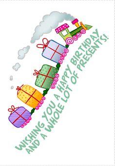 #Birthday #Card Free #Printable 100's to choose from! www.greetingsisland.com