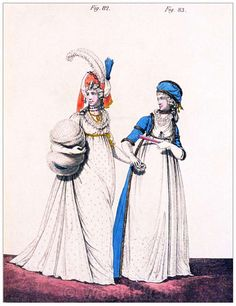 England Afternoon Dresses, January 1796.