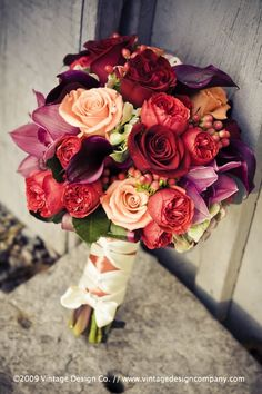 Whitney LOVEs this bouquet Fall Wedding Bouquets, Fall Wedding Flowers, Bride Bouquets, Bridal Flowers, Flower Bouquet Wedding, Autumn Wedding, Rose Bouquet, Floral Wedding, Wedding Colors
