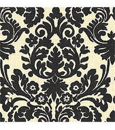 Fabric: Black and Cream Floral Print