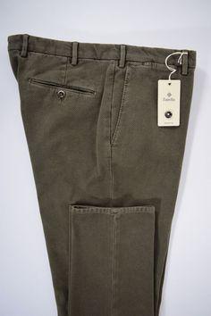 NWT ZANELLA pantalone uomo SPORTIVO cotone FUSTAGNO salvia A/I tg. 52-54-58(IT)