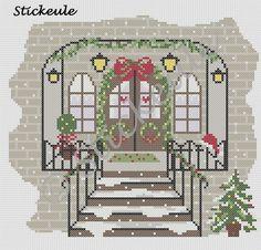 Stickeules Freebies: WEIHNACHTEN-Häuser
