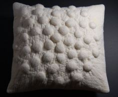 Cream Bobble cushion in felt by sofft on Etsy, £45.00