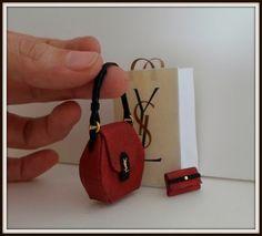 Bag dollhouse miniature 1:12 scale. (3Pcs)