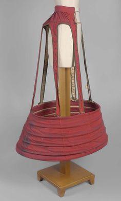 1860s - Red hoop petticoat