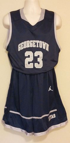 Air Jordan Georgetown Hoyas Mod Uniform Mens Large #23 NCAA Msrp $150.00 #Nike #uniform