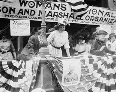 Middle class women especially had enough leisure time to devise protests, such as this Women's Suffrage Protest.