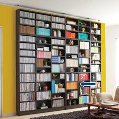 1cmピッチ薄型壁面書棚 幅86cm高さ180cm奥行16.5cm オープン 【本棚 壁面収納】 通販 - ディノス