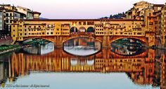 "Firenze, Florence ""Ponte Vecchio e riflessi sull'Arno - Ponte Vecchio and reflections on the Arno river"" at the Tower Bridge Exhibition - City of London Beautiful Places In The World, Great Places, Under The Tuscan Sun, Places In Italy, Europe, London Bridge, Old London, World Heritage Sites, Wonders Of The World"
