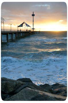 Adelaide city, Brighton beach (see Adelaide's beaches) City Beach, Beach Trip, Hawaii Beach, Oahu Hawaii, Beach Travel, Australia Living, Australia Travel, Australia Beach, Vintage Travel Posters
