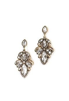 Rhinestone Petal Drop Earrings | FOREVER21 - 1000081600