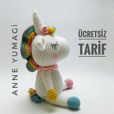 #Repost @anneyumagi (@get_repost) ・・・ Hayırlı akşamlar ❤ Nihayet biz geldik🤗 10 bin olunca tarifi paylaşacağım demiştim sözüm vardı, biz… Crochet Toys Patterns, Stuffed Toys Patterns, Crochet Dolls, Doll Patterns, Knitting Patterns, Crochet Horse, Crochet Unicorn, Doll Toys, Baby Dolls