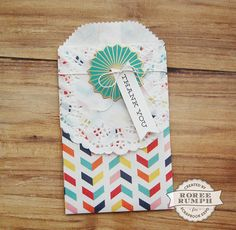 Goodie Bag by Roree Rumph for Stamp & Scrapbook Expo using @wermemorykeeper  Goodie! Goodie Bag Guide Tool and accessories