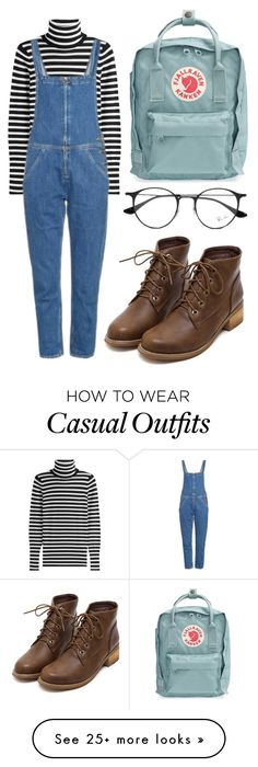 """(smart) casual"" by pillowtallk on Polyvore featuring Fjällräven, Steffen Schraut, M.i.h Jeans and Ray-Ban"