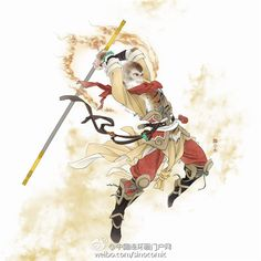 W u X i a — sinocomic 中国连环画门户网 Character Concept, Character Art, Character Design, Japanese Prints, Japanese Art, The Legend Of Monkey, Monkey Tattoos, King Tattoos, Journey To The West