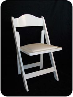 White High Back Wooden Garden Chairs for Rent
