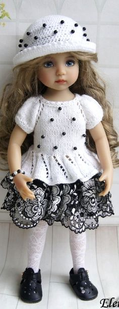 Pretty Dolls, Beautiful Dolls, Child Doll, Girl Dolls, Clothes Crafts, Doll Clothes, Sasha Doll, Clay Dolls, Knitted Dolls