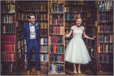 Village fete style wedding, Gladstone's Library, North Wales – Lucy and Phil sneak previews