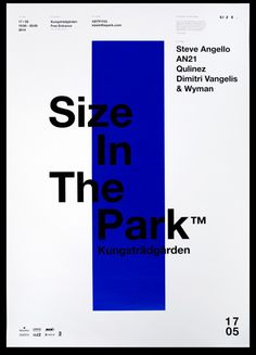 Size In The Park on Behance