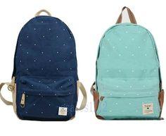 Women Canvas Backpack Bag Schoolbag Tote Handbag Campus Bookbag Cute Stars $30