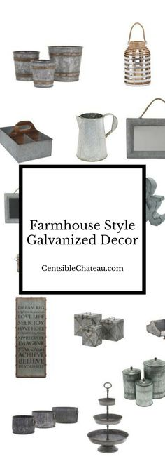 Galvanized decor for your fixer upper, farmhouse style home that will give you the Joanna Gaines design look you dream of!