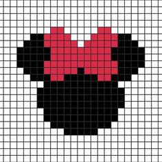 DIY: Mickey-Minnie Coasters in Hama Beads (+ grid Knitting Charts, Knitting Patterns, Intarsia Knitting, Intarsia Patterns, Free Knitting, Cross Stitch Designs, Cross Stitch Patterns, Cross Stitching, Cross Stitch Embroidery