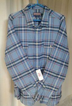 New Vineyard Vines Whale Shirt Blue Red White Plaid Collegiate Fit LS XXL #VineyardVines #ButtonFront