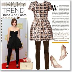 A fashion look from January 2016 by kellylynne68 featuring RED Valentino, Creatures Of The Wind, Style & Co., Alexander McQueen, Emma Watson, TrickyTrend and dr...
