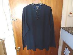 "Mens St.Johns Bay Size L Dark Blue Long Sleeve Thermal Type Of Shirt "" BEAUTIFUL #mensclothing #clothing"