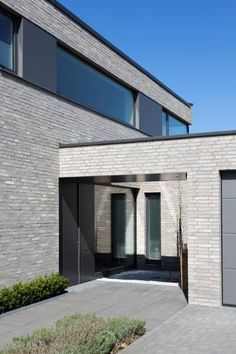 Grey Brick Houses, Brick Facade, Private Room, Common Area, Cladding, My Dream Home, Townhouse, New Homes, Farmhouse