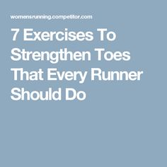 The foundation of your running form starts in your toes. Give your lower legs some love to strengthen toes and prevent aches and pains from the ground up. Health And Nutrition, Health And Wellness, Health Fitness, Running Form, Running Women, Toe Exercises, Stretches, Runners Toe, Running Magazine
