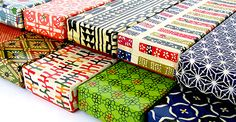 京の型染め和紙 筆箱
