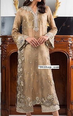 Tan Tissue Suit   Buy Pakistani Fashion Dresses and Clothing Online in USA, UK Pakistani Dresses Online Shopping, Pakistani Formal Dresses, Online Dress Shopping, Pakistani Designer Clothes, Pakistani Designers, Indian Designer Outfits, Eastern Dresses, Designer Party Dresses, Ladies Dress Design