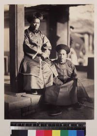 Portrait of Chinese men wearing winter clothes, Beijing, China, ca.1861-1864 :: International Mission Photography Archive, ca.1860-ca.1960