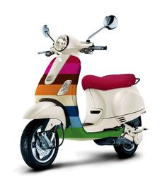"Special Edition Vespa inspired by The Gap fashion.  As the mother of Napoleon Dynamite's date to the dance would say, ""I WANT THAT!"""
