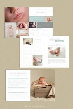 Newborn Photography Magazine Templat by SweetLittleMuse on Creative Market
