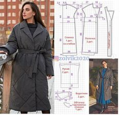 Coat Patterns, Dress Sewing Patterns, Fashion Sewing, Pattern Making, Sewing Techniques, Shirt Dress, Plus Size, How To Make, How To Wear