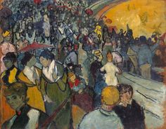 Art of the Day: Van Gogh, Spectators in the Arena at Arles, December 1888. Oil on canvas, 73 x 92 cm. State Hermitage Museum, St. Petersburg.
