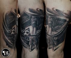Ricardo Tattoo, Wrocław, PL, tattoo black and gray, tattoo football, tattoo socker, tatuaż, tatuaże