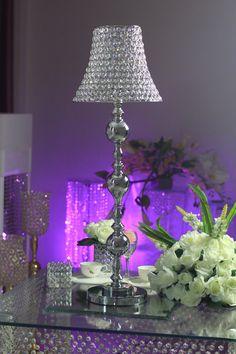 ZT-195 Lamp shade silver crystal centerpiece H100*W30 Q1600.00  $229.50  10% descto pago efectivo